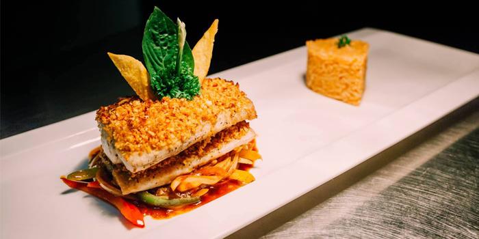 Sea Bass Branzino from The 9th Floor restaurant & bar in Sky Inn Condotel Patong Kathu Phuket, Thailand