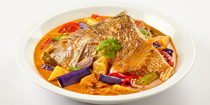 Fish Head in Tom Yum Curry from Siam Kitchen (Lot 1) in Choa Chu Kang, Singapore