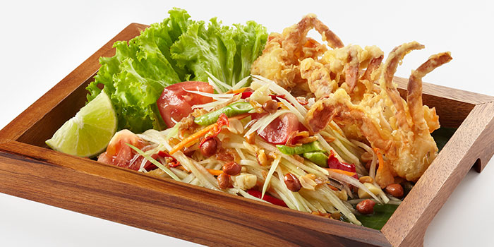 Green Papaya Salad with Soft Shell Crab from Siam Kitchen (Lot 1) in Choa Chu Kang, Singapore