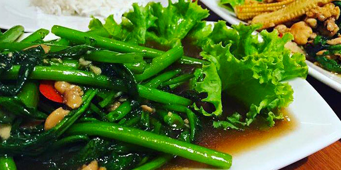 Stir Fried Morning Glory from The Wok on Patong Road, Phuket