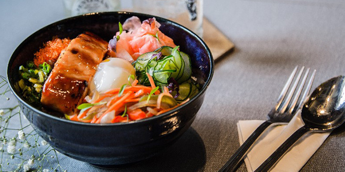 Teriyaki Salmon Donburi from The Populus Coffee & Food Co. in Tanjong Pagar, Singapore