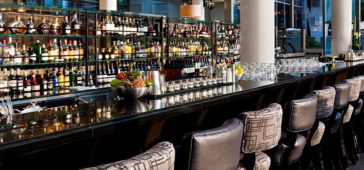 Bar of The Landing Point in Fullerton Bay Hotel, Singapore