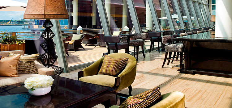 Seating Area of The Landing Point in Fullerton Bay Hotel, Singapore