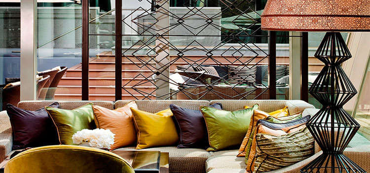 Sofa Seating of The Landing Point in Fullerton Bay Hotel, Singapore