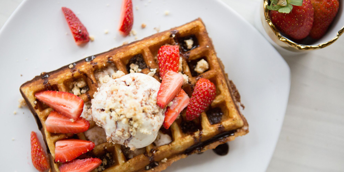 Waffles with Ice Cream from Little House of Dreams in Dempsey, Singapore