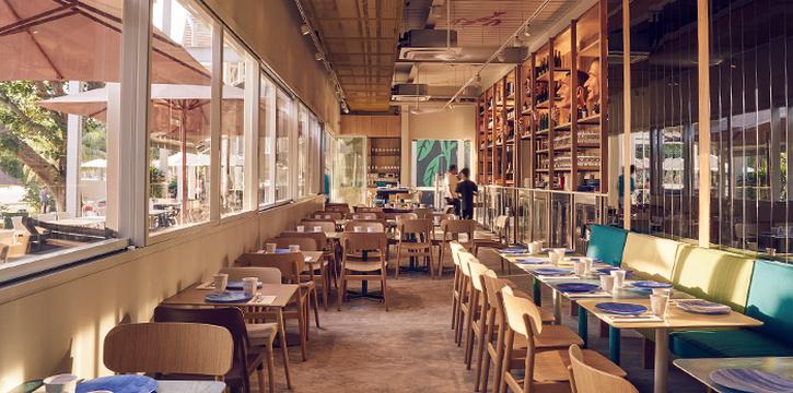 Interior of FOC Sentosa Restaurant in Sentosa, Singapore