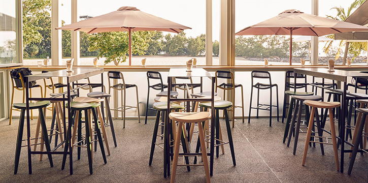 Bar Seating in FOC Sentosa Restaurant in Sentosa, Singapore