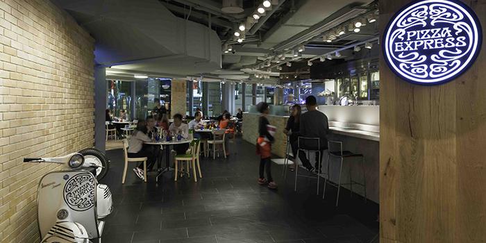 Interior of PizzaExpress K11, Tsim Sha Tsui, Hong Kong