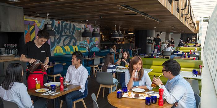 Interior of PizzaExpress Moko, Mong Kok, Hong Kong