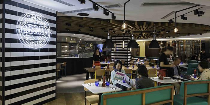 Interior of PizzaExpress New Town Plaza, Shatin, Hong Kong