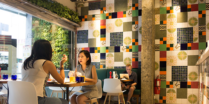 Interior of PizzaExpress Wellington Street, Central, Hong Kong