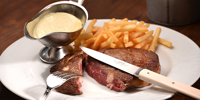 Ribeye with Bearnaise Sauce from Brasserie Gavroche on Tras Street in Tanjong Pagar, Singapore