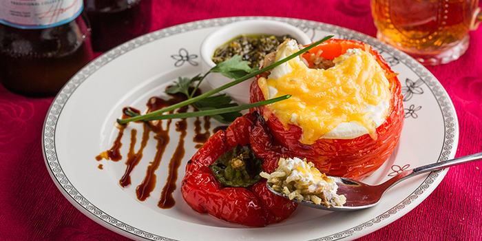 Baked Peppers stuffed with Rice, Ivan The Kozak, Central, Hong Kong