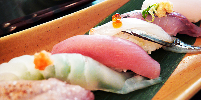 Sushi from MARUKYU at Telok Ayer in Raffles Place, Singapore