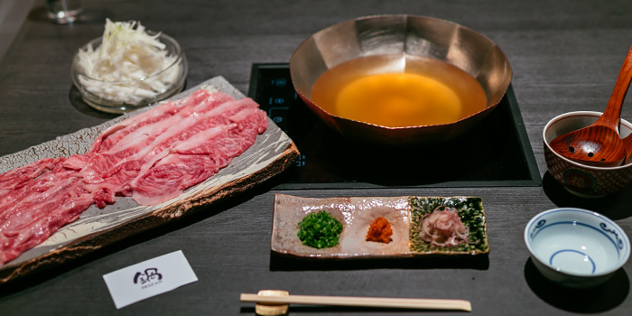 Wagyu Dashi Nabe from Nabe Seizan in Wisma Atria Shopping Centre in Orchard Road, Singapore