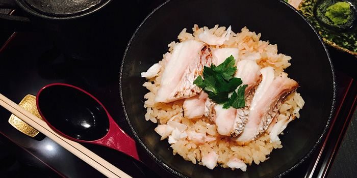 Seabream Rice Set from Nabe Seizan in Wisma Atria Shopping Centre in Orchard Road, Singapore
