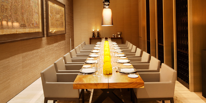 Private Dining Room of Rang Mahal at Pan Pacific Hotel in Promenade, Singapore