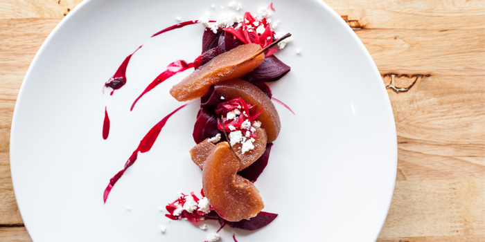 Roast Beetroot With Poached Pear And Balsamic Vinaigrette from Seven Spoons in Chakkraphatdi Phong Road, Bangkok