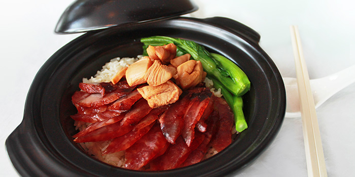 Claypot Wax Meat Rice from Shutters at Amara Sanctuary in Sentosa, Singapore