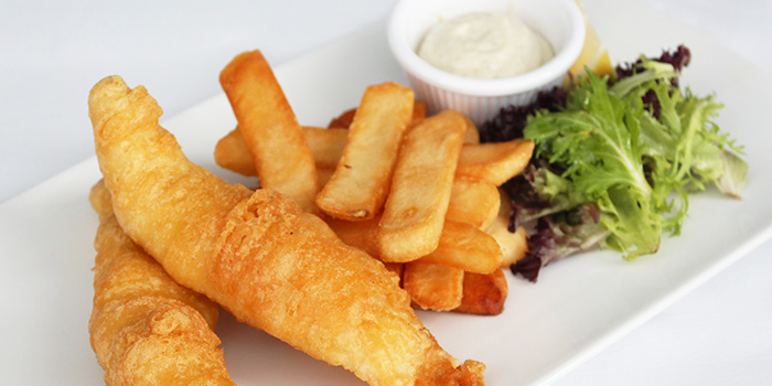 Fish & Chips from Shutters at Amara Sanctuary in Sentosa, Singapore