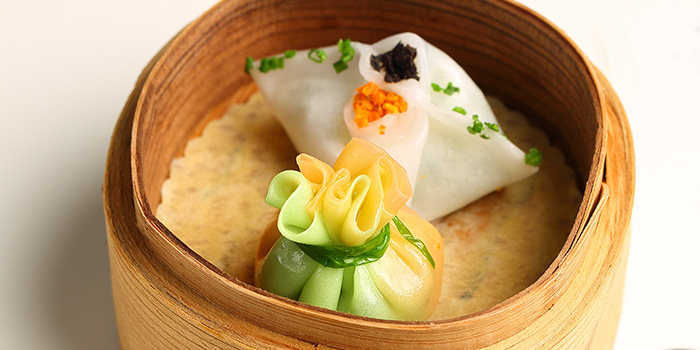 Dumplings from Tóng Lè Private Dining at OUE Tower in Raffles Place, Singapore