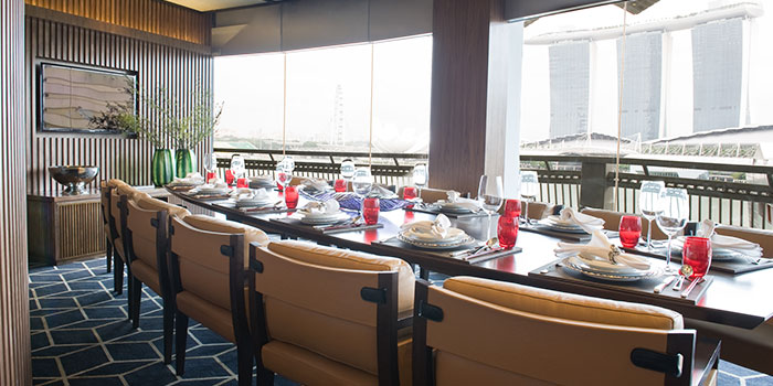 Private Dining Room of Tóng Lè Private Dining at OUE Tower in Raffles Place, Singapore