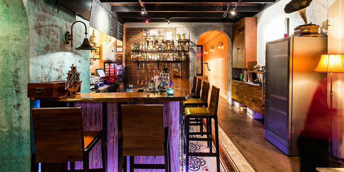 Bar Area of Rendez-Vous Coffee Wine Dine in Talad-Nua, Muang, Phuket, Thailand