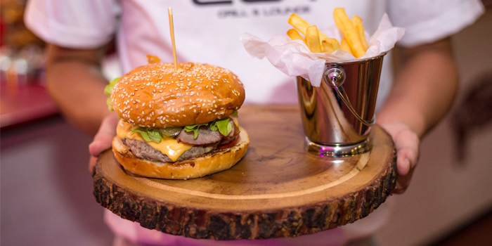 Beef Burger from Cut Grill & Lounge in Lagoon Road, Boat Avenue, Cherngtalay, Talang, Phuket, Thailand