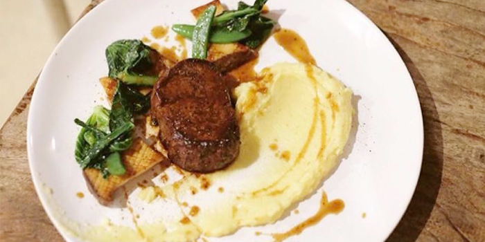 Beef Tenderloin with Mashed Potato from Breeze at Cape Yamu in Paklok, Thalang, Phuket, Thailand