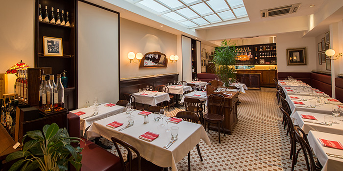 Interior of Brasserie Gavroche on Tras Street in Tanjong Pagar, Singapore