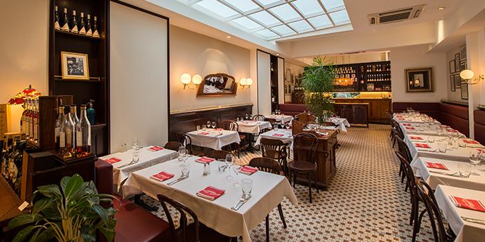 Interior of Brasserie Gavroche on Tras Street in Tanjong Pagar, Singapore
