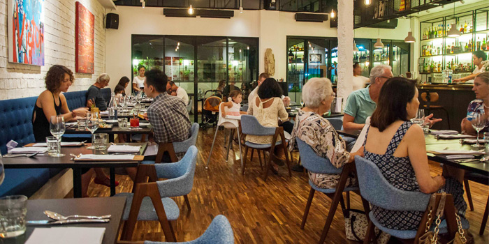 Dinning Area of Bampot Kitchen & Bar in Cherngtalay, Phuket, Thailand