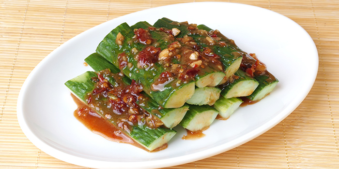 Marinated Cucumber with Vinegar and Garlic from Kam