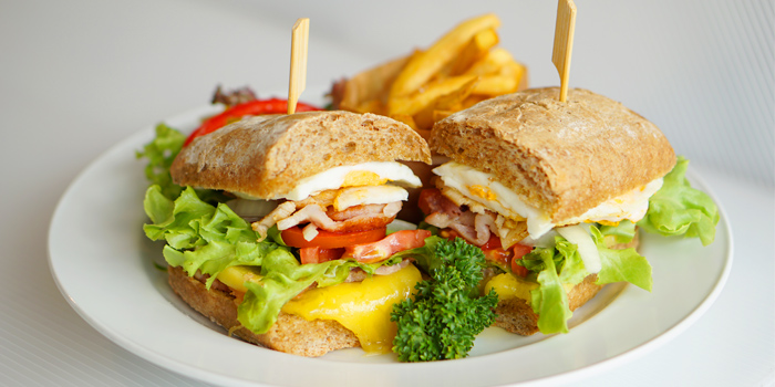 Les Diables Club Sandwich from Les Diables in Boat Lagoon, Koh Kaew, Muang Phuket, Thailand