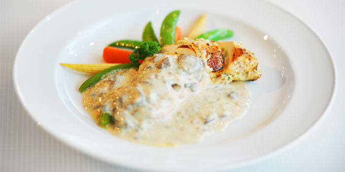 Oven Roasted Herb and Cream Cheese Stuffed Chicken Breast from Les Diables in Boat Lagoon, Koh Kaew, Muang Phuket, Thailand
