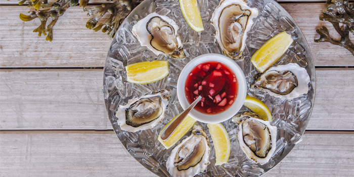 Oysters from Palm Seaside on Bangtao Beach, Phuket, Thailand