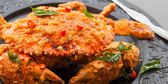 Golden Salted Egg Yolk Crab from Red House Seafood (Clarke Quay) in Clarke Quay, Singapore