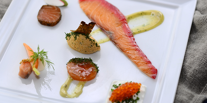 Salmon Six Ways, FINDS, Tsim Sha Tsui, Hong Kong