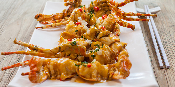 Signature Creamy Custard Sauce Lobster from Red House Seafood (Clarke Quay) in Clarke Quay, Singapore