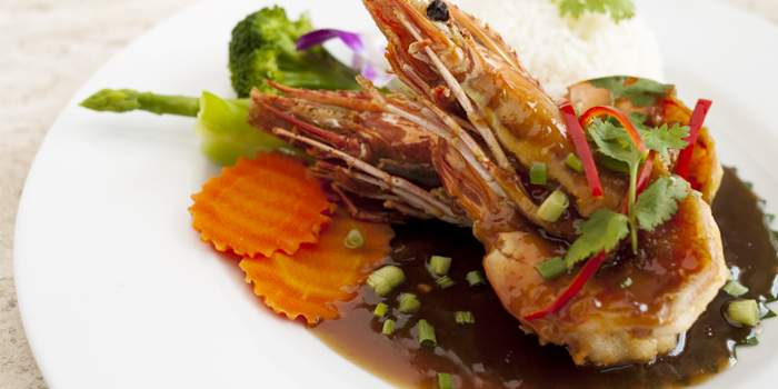 Tiger Prawn Tamarind Sauce from Rendez-Vous Coffee Wine Dine in Talad-Nua, Muang, Phuket, Thailand