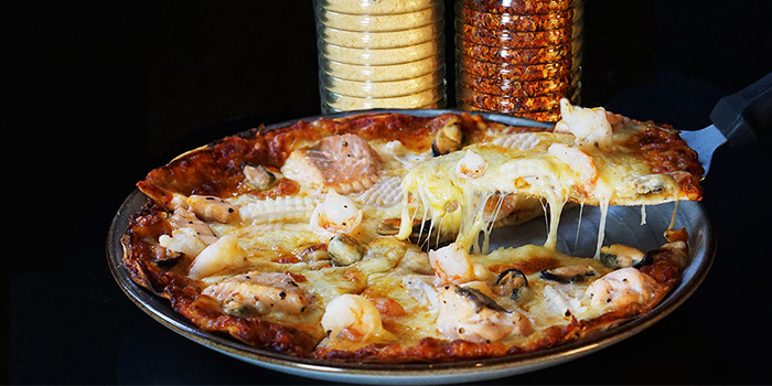 Seafood Pizza from Canopy Garden Dining in Bishan, Singapore