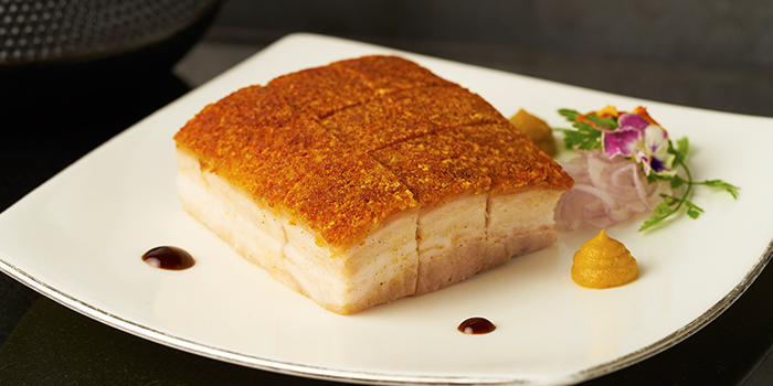 Five Spice Roasted Australian Yorkshire Pork Belly from Cassia at Capella Hotel on Sentosa Island, Singapore