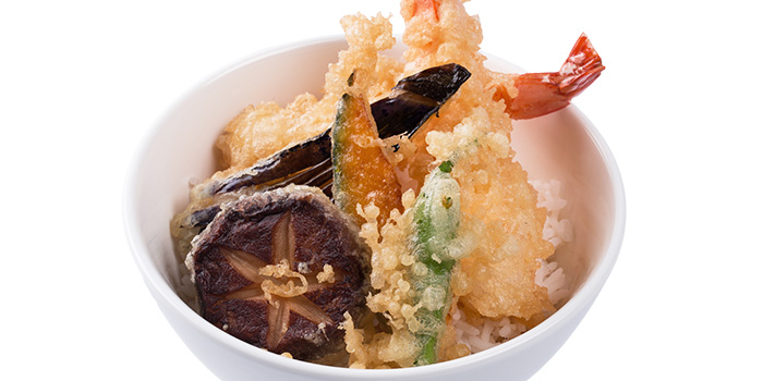 Prawn Tempura Bowl from Grand jetè izakaya at Aperia Mall in Lavender, Singapore
