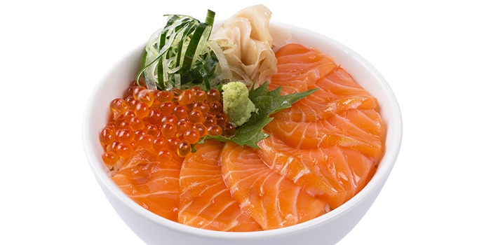 Salmon Ikura Bowl from Grand jetè izakaya at Aperia Mall in Lavender, Singapore