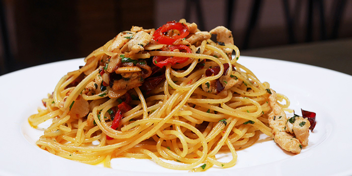 Aglio Olio from Kith Cafe (Ascott Orchard) in Orchard, Singapore