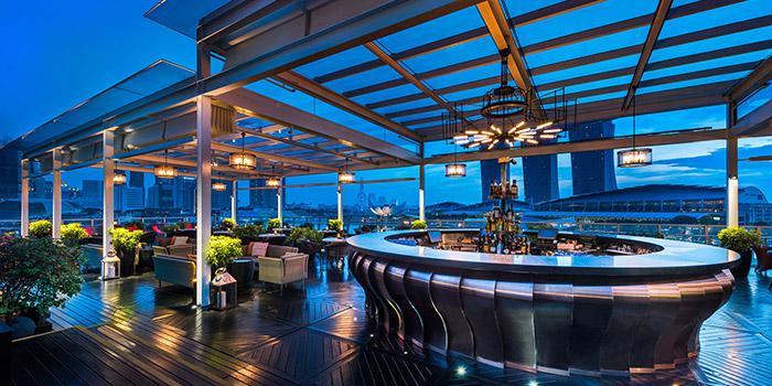 Bar Area of Lantern at Fullerton Bay Hotel in Raffles Place, Singapore
