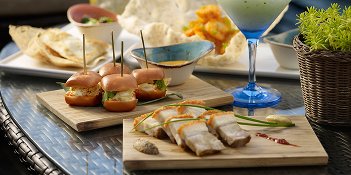 Bar Snacks from Lantern at Fullerton Bay Hotel in Raffles Place, Singapore