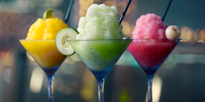 Frozen Margaritas from Lantern at Fullerton Bay Hotel in Raffles Place, Singapore