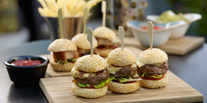 Sliders from Lantern at Fullerton Bay Hotel in Raffles Place, Singapore