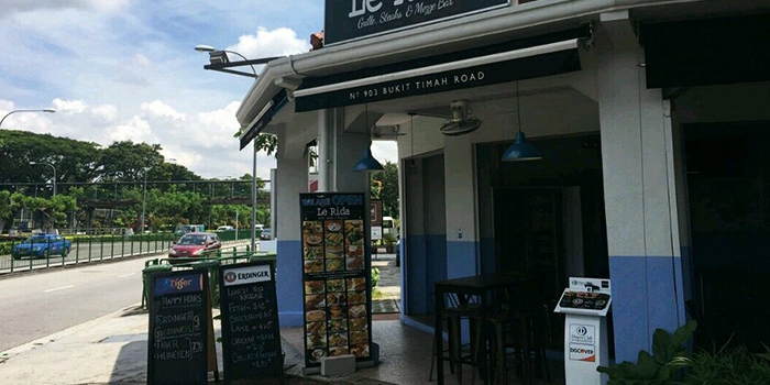 Entrance of Le Rida (Mediterranean, French & North Indian Cuisine) in Bukit Timah, Singapore